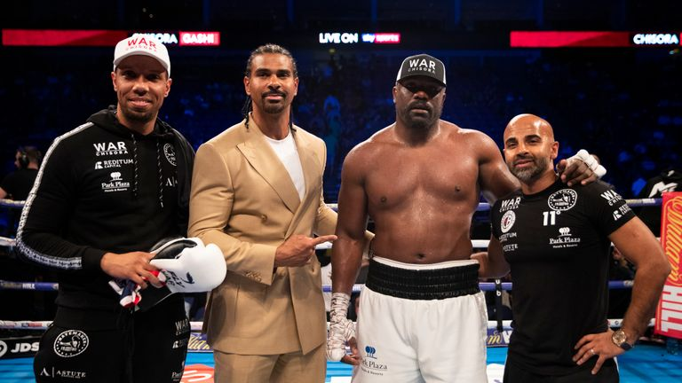 Manager David Haye will be plotting future fights for Chisora