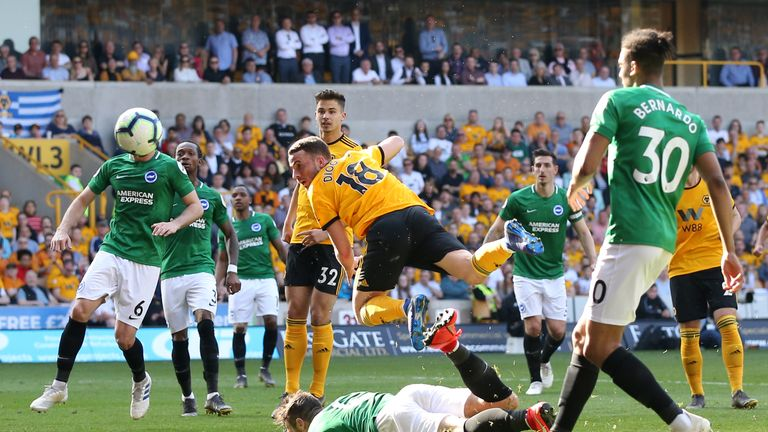 Jota heads wide as Wolves were left frustrated by Brighton