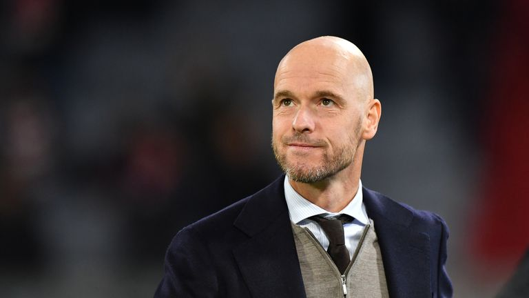 Head coach Erik Ten Hag guided Ajax to the Champions League semi-finals
