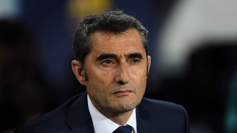 Ernesto Valverde led Barcelona to the La Liga title on Saturday
