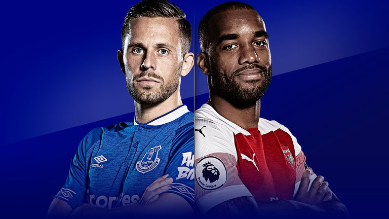 What TV channel is Everton vs Arsenal on today?