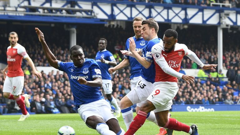 Everton feature in a tough festive period of fixtures for Arsenal