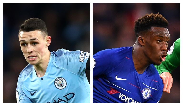 Phil Foden and Callum Hudson-Odoi made their first Premier League starts on Wednesday