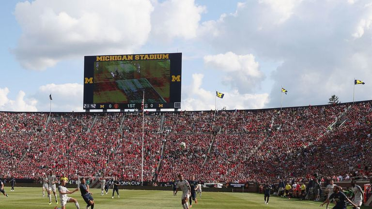 Liverpool played Manchester United in front of 100,000 fans in Michigan last year