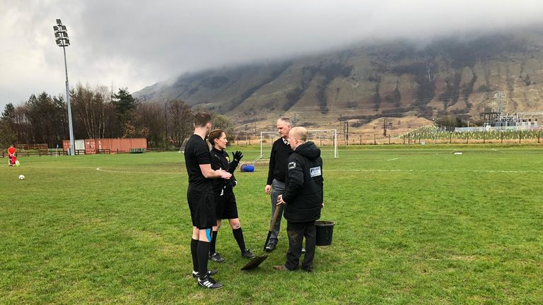 Officials delayed the kick-off of Fort William's game against Nairn County