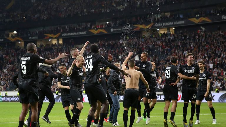 Eintracht Frankfurt progressed to the Europa League semi-finals last season
