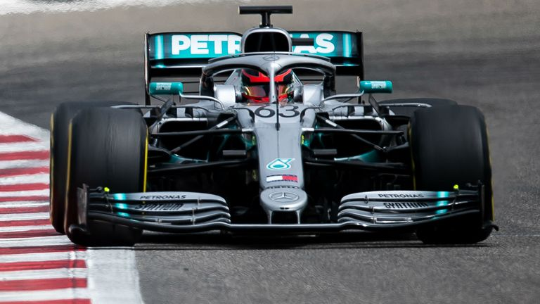 George Russell topped the timesheets for Mercedes on Day Two