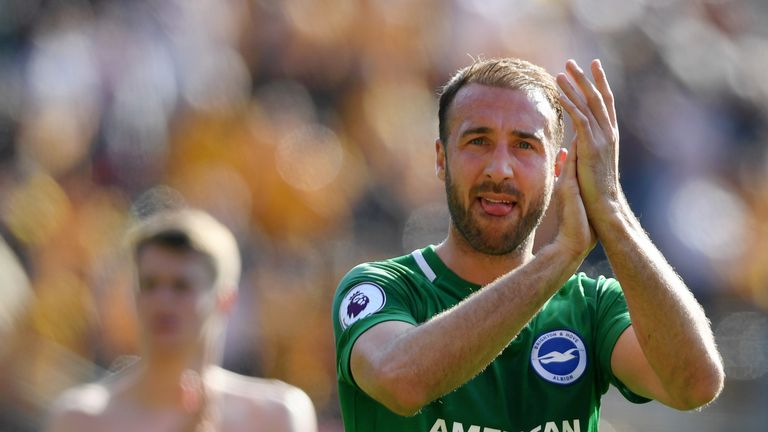 Glenn Murray cut an isolated figure throughout as Brighton defended resolutely