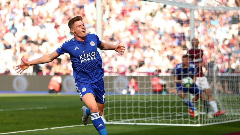 Harvey Barnes scored a late equaliser at West Ham in Leicester's last game