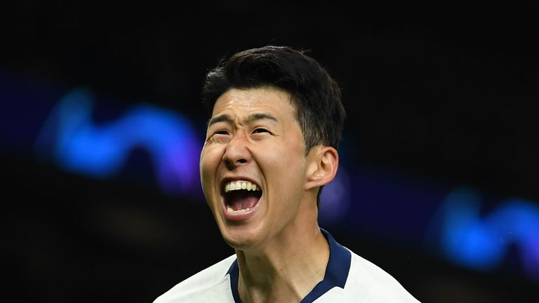 Son scored Tottenham's winner against Man City in the Champions League