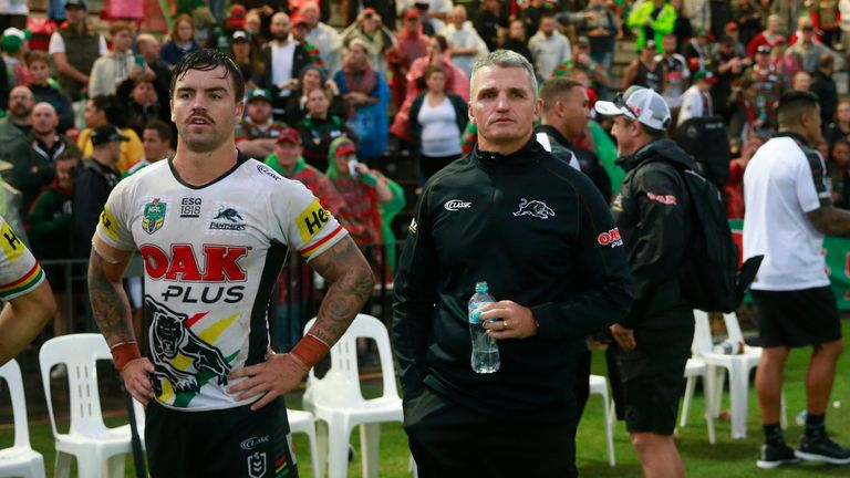 Panthers coach Ivan Cleary (right)