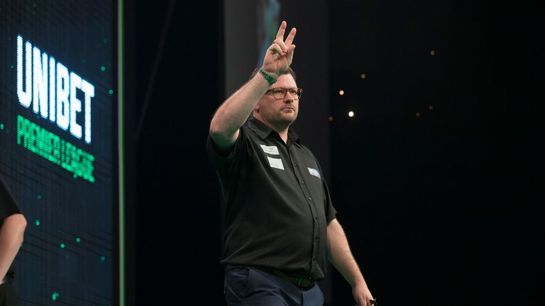 James Wade is flying high at present. Picture via Lawrence Lustig/PDC