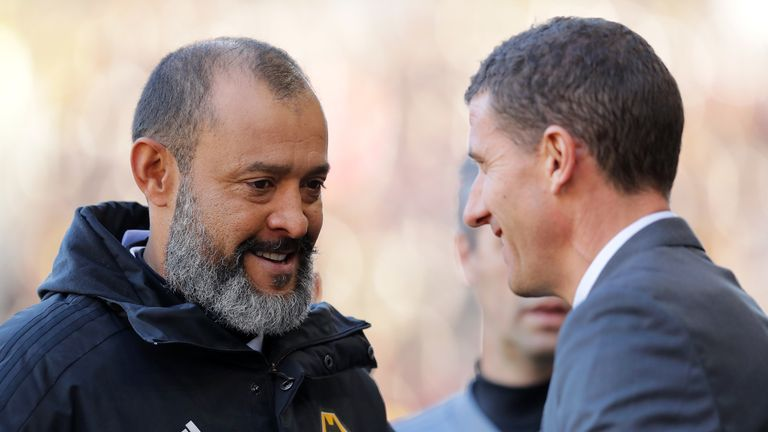 Javi Gracia (right) and Wolves counterpart Nuno Espirito Santo have enjoyed impressive seasons in charge