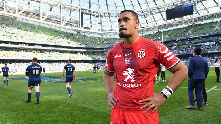 Jerome Kaino stands dejected following the final whistle at the Aviva Stadium