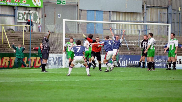 The famous goal by Glass that kept Carlisle in the Football League