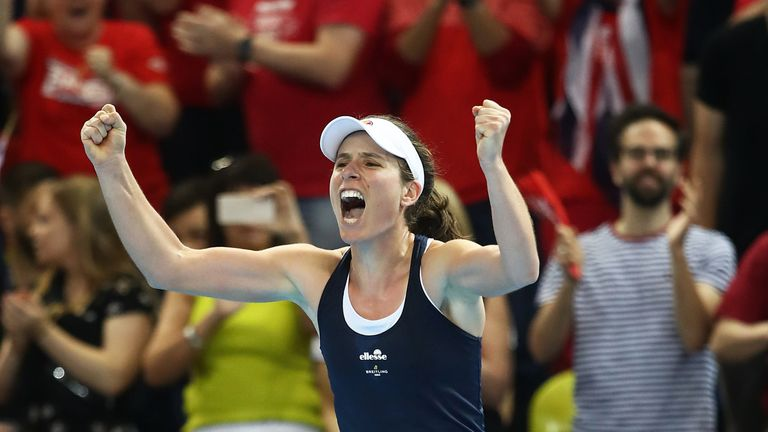 Johanna Konta came from 4-1 - and two breaks down in the deciding set - to defeat Yulia Putintseva