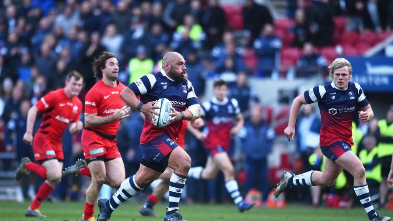John Afoa runs into space for Bristol