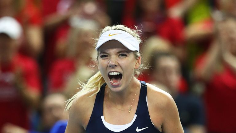 Katie Boulter confirmed Great Britain's Fed Cup promotion to World Group level