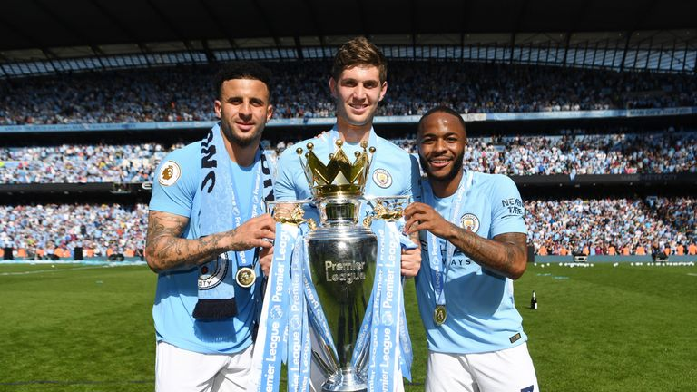 Walker is eyeing Man City's first ever back-to-back league titles