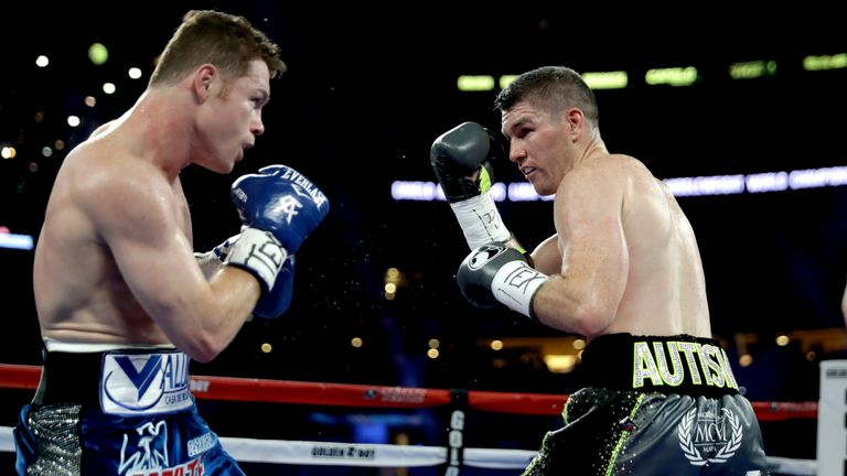 Liam Smith in action against Canelo in their Dallas showdown