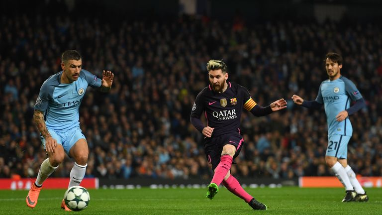 Messi scored against Man City on his last visit to Manchester