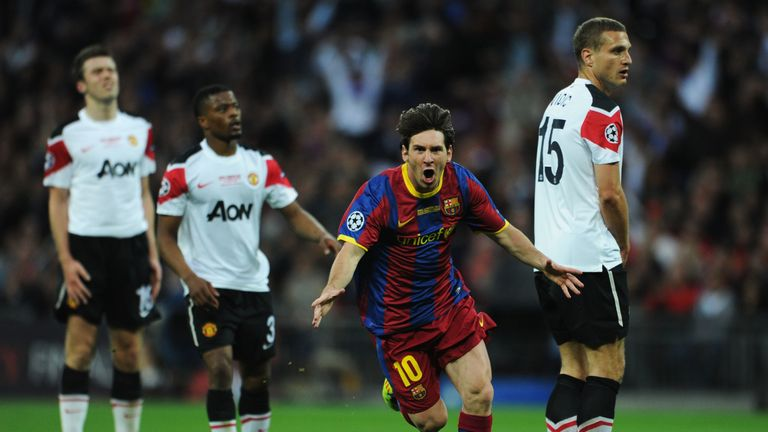 He scored in both the 2009 and 2011 Champions League final victories against United