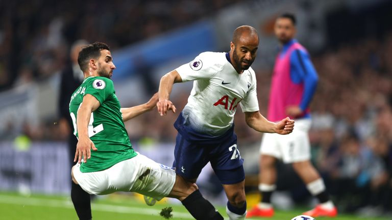 Lucas Moura was frustrated by Brighton's defenders