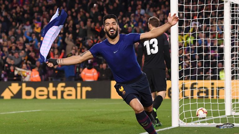 Luis Suarez opened the scoring in the 85th minute