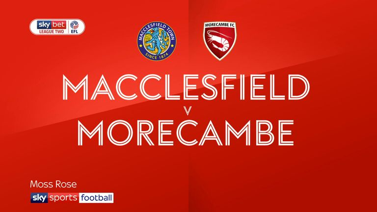 Macclesfield 1-1 Morecambe: All square at Moss Rose