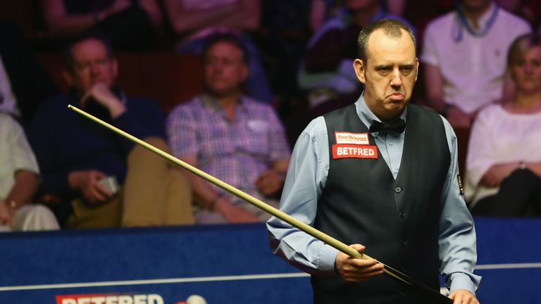 Mark Williams' World Championship title defence came to an end