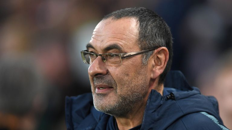 Maurizio Sarri led Chelsea to Europa League glory and a third-place finish in the Premier League in his debut season in England