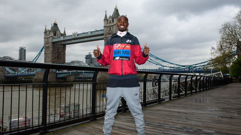 Farah will compete in the London Marathon on Sunday