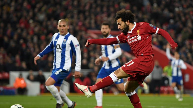 Liverpool's Mohamed Salah in action against Porto in last season's Champions League