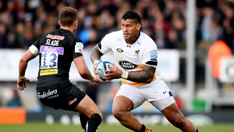 Nathan Hughes on the charge for Wasps