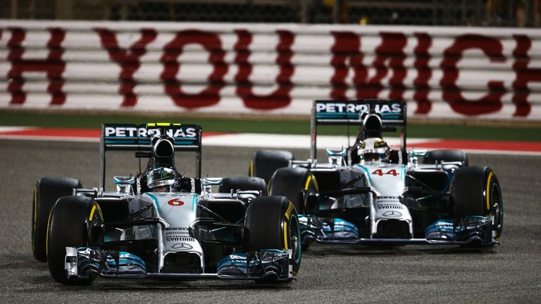 Sky F1's Nico Rosberg relives the 2014 Bahrain GP where he fought fiercely with Mercedes team-mate Lewis Hamilton