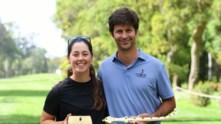 Iturrios with fellow Spaniard Jorge Campillo, who won the men's event on the Red Course at Royal Golf Dar Es Salam