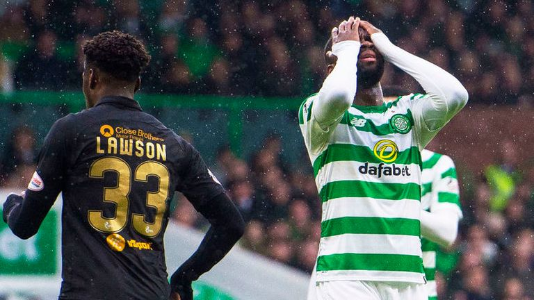 Odsonne Edouard is left exasperated by another missed chance