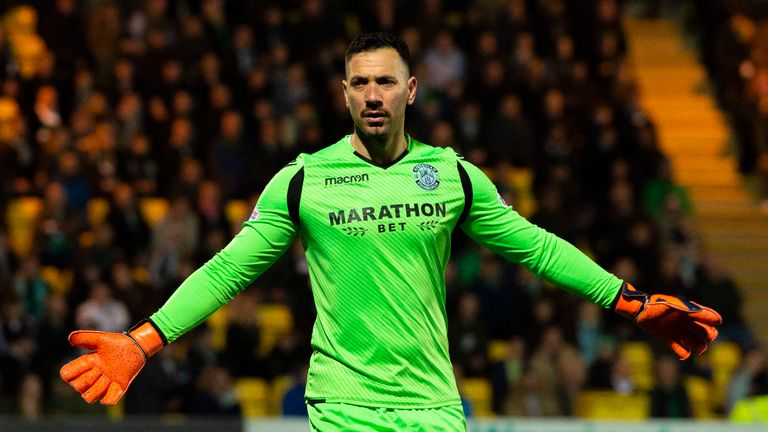 Hibernian goalkeeper Ofir Marciano has kept two clean sheets in his last three appearances for the club