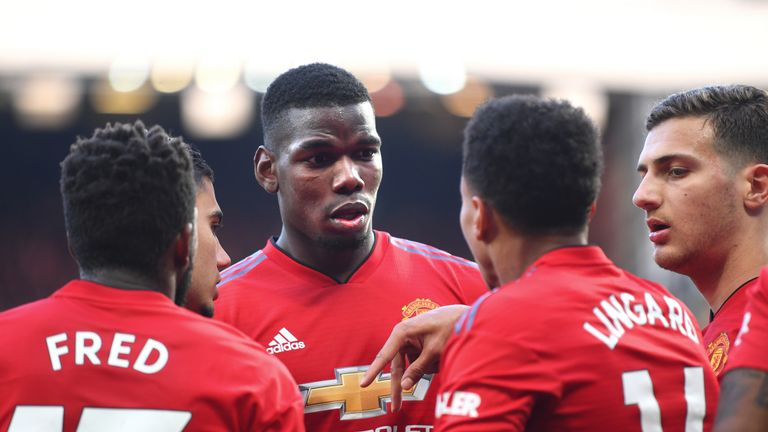 Paul Pogba scored two penalties but Manchester United were not at their best