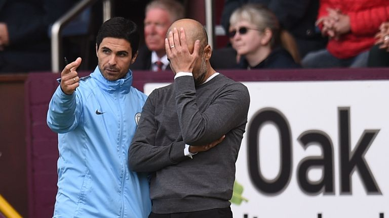 Pep Guardiola and Manchester City had endured a frustrating afternoon at Turf Moor before Aguero's goal just after the hour mark
