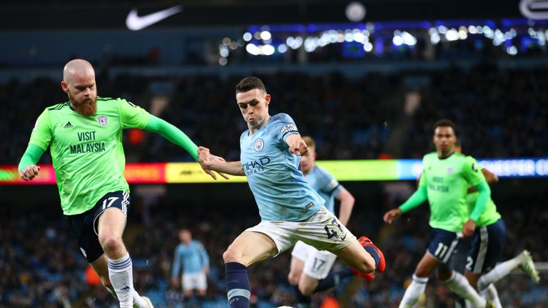 Foden starred in Manchester City's win over Cardiff