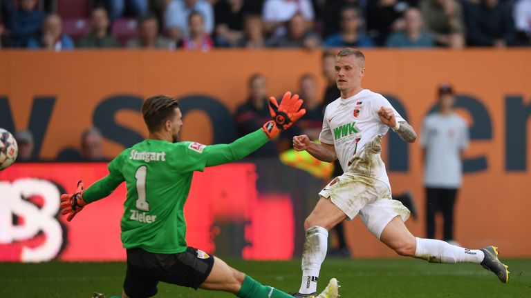 Philipp Max nets his second of the day against Stuttgart