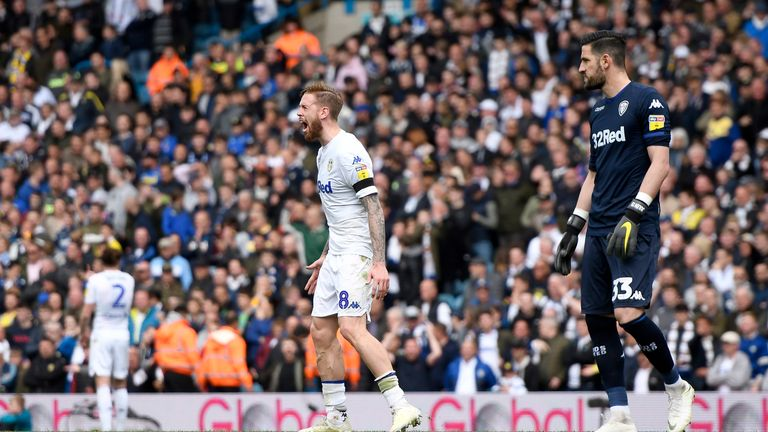 Pontus Jansson vents his frustration after Aston Villa were allowed to level