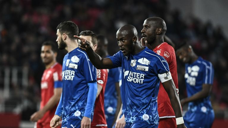 The game at Stade Gaston Gerard was interrupted for five minutes after Prince Gouano heard alleged racist chants