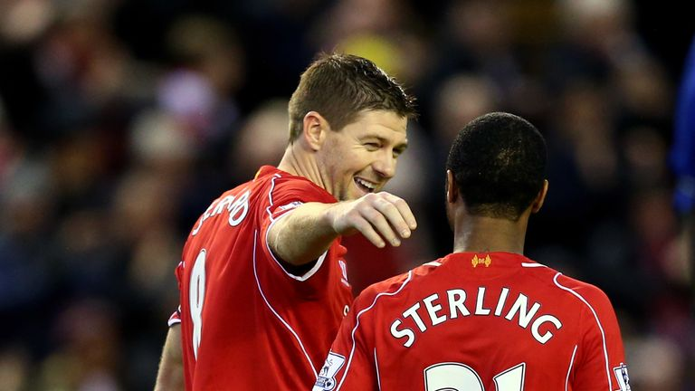 Gerrard was club captain during Sterling's time at Anfield