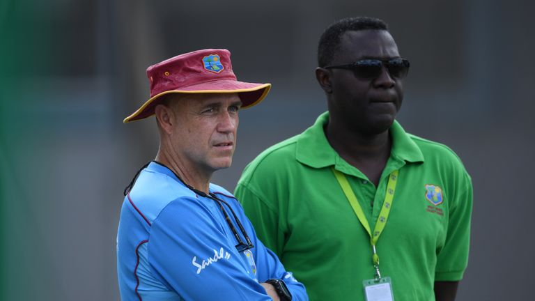 Courtney Browne (right) has been sacked as Windies' head selector