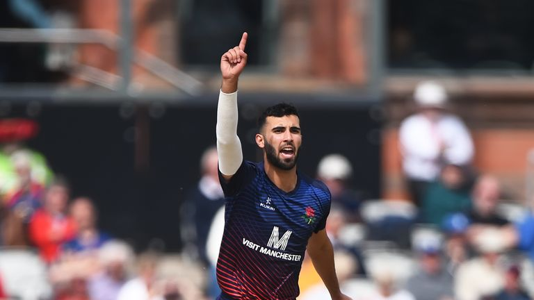 Saqib Mahmood was leading wicket-taker in the 2019 Royal London One-Day Cup for Lancashire