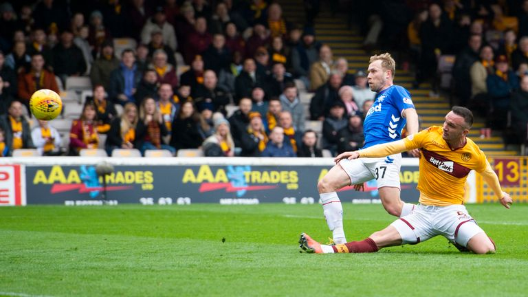 Arfield scored a hat-trick against Motherwell in Rangers' last outing