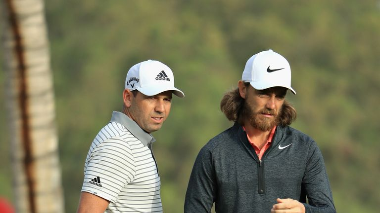 Sergio Garcia partners Tommy Fleetwood at the Zurich Classic of New Orleans