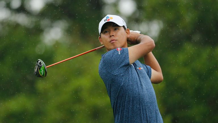 Si Woo Kim is bidding for a wire-to-wire victory at the Valero Texas Open